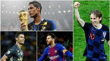 Berikut ini formasi dari 11 pemain terbaik yang dipilih FIFA 2018. Tiga diantaranya adalah Luka Modric, Lionel Messi dan Cristiano Ronaldo. (Foto-foto Kolase AP dan AFP)