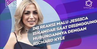 Jessica Iskandar tersipu malu saat disinggung soal Richard Kyle.