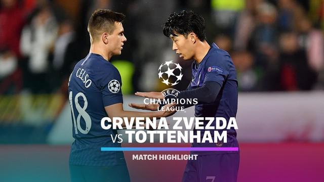 Berita video highlights matchday 4 Grup B Liga Champions 2019-2020 antara Crvena Zvezda melawan Tottenham Hotspur yang berakhir dengan skor 0-4, Rabu (6/11/2019).