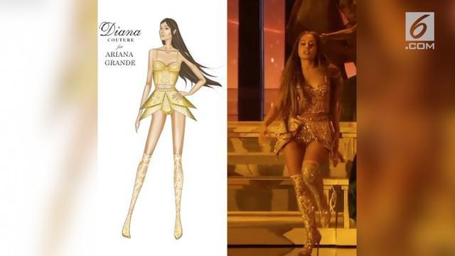 Ariana Grande mengenakan busana dari desainer Indonesia bernama Diana Putri saat tampil di MTV VMA.