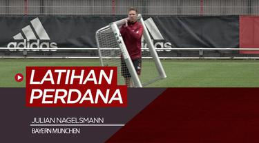 Berita video Julian Nagelsmann menjalani sesi latihan perdana bersama Bayern Munchen, Rabu (7/7/21)