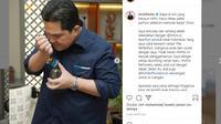 Menteri BUMN Erick Thohir. Instagram@erickthohir