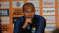 Bek sayap Persib Bandung Supardi Nasir menyebut tidak mudah mengalahkan PSIS Semarang. (Liputan6.com/Huyogo Simbolon)