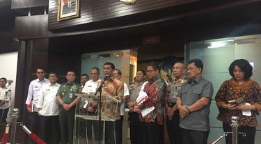 Menko Polhukam Wiranto saat umumkan Perppu Ormas