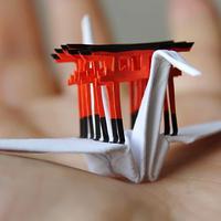 Proyek 1000 burung bangau dalam 1000 hari membuat seniman ini berimajinasi bekeliling dunia. (Via: boredpanda.com)