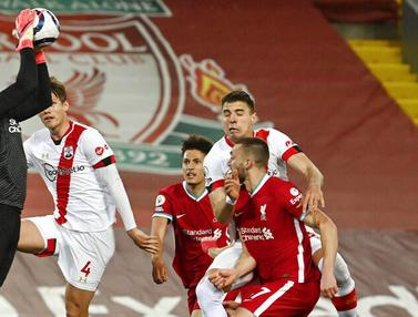 FOTO: Hajar Southampton, Liverpool Jaga Asa Lolos ke Liga Champions Musim Depan