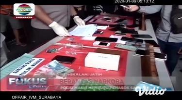 Jajaran Satresnarkoba Polres Bangkalan, Madura, Jawa Timur, berhasil mengamankan 5 orang pengedar narkoba jenis sabu-sabu asal Malaysia.