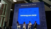 Pembukaan platform belanja online Samsung.com. (Foto: Merdeka.com/Fauzan Jamaludin)