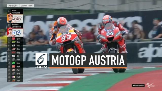 MotoGP Austria hari Minggu (11/8/2019) diwarnai duel dramatis antara Andrea Dovizioso dan Marc Marquez. Pertarungan di Red Bull dimenangkan Andrea Dovizioso.