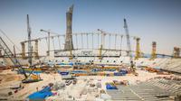 Pembangunan Khalifa International Stadium yang digunakan untuk Piala Dunia 2022 di Qatar (LOC)