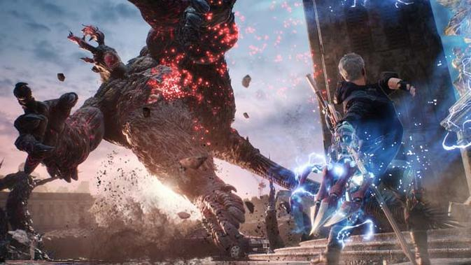 Gamer PS4 di Asia sudah bisa unduh gim Devil May Cry 5. (Doc: Capcom)