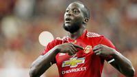 5. Romelu Lukaku (Striker) - Striker Belgia ini belum mampu menunjukan penampilan maksimal bersama Manchester United. Poin Lukaku di FIFA 19 pun ada penurunan yaitu stamina, dari 81 menjadi 79. (AFP/Aaron M. Sprecher)
