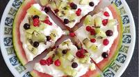 Kreasi pizza semangka yang mudah dibuat bersama si kecil. (dok. Instagram @sarah_swlifestyle/https://www.instagram.com/p/BoQzeAHgn-w/Esther Novita Inochi)