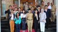 Sebanyak 12 diplomat muda dari negara-negara ASEAN melakukan kunjungan ke Banyuwangi.