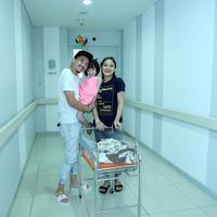 Preskon anak kedua Omesh dan Dian Ayu Lestari (Nurwahyunan/bintang.com)