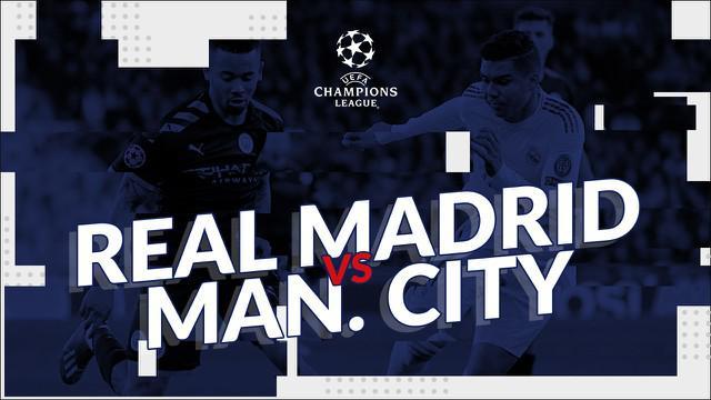 Berita video statistik Real Madrid vs Mancehster City pada lek pertama 16 besar Liga Champions 2019-2020, Kamis (27/2/2020) di Santiago Bernabeu, Madrid.