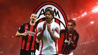 AC Milan - Zlatan Ibrahimovic, Alessandro Costacurta, Paolo Maldini (Bola.com/Adreanus Titus)