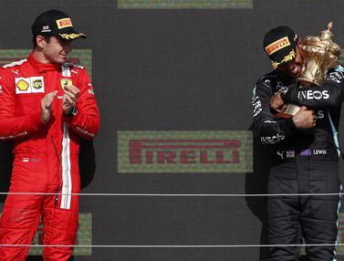 Foto: Meski Kena Penalti, Lewis Hamilton Berhasil Raih Podium Juara di F1 GP Inggris