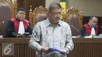 Chairman Agung Sedayu Group, Sugianto Kusuma alias Aguan, usai memberi kesaksian di Pengadilan Tipikor terkait dugaan suap pembahasan Raperda tentang Reklamasi Pantai Utara Jakarta, Rabu (27/7). (Liputan6.com/ Immanuel Antonius)