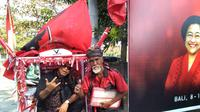 Simpatisan PDIP asal Surabaya kayu becak sampai Bali