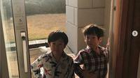 Seoeon dan Seojun waktu liburan di Jeju pada Desember 2018 kemarin. (dok. Instagram @moonjungwon/https://www.instagram.com/p/BrnJ82ZlpOe/Esther Novita Inochi)