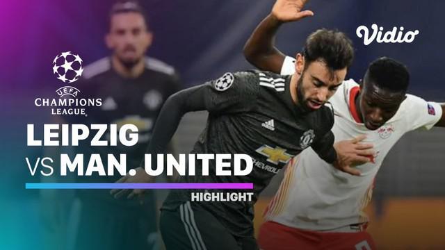 Berita video highlights matchday 6 Grup H Liga Champions 2020/2021 antara RB Leipzig melawan Manchester United yang berakhir dengan skor 3-2, Rabu (9/12/2020) dinihari WIB.