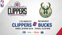 Los Angeles Clippers Vs Milwaukee Bucks (Bola.com/Adreanus Titus)