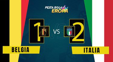 Berita Video, Hasil Pertandingan Babak Perempat Final Antara Timnas Italia Vs Belgia pada Sabtu (3/7/2021)