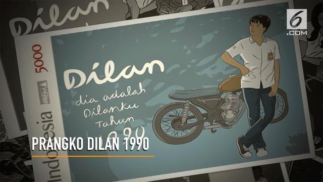 """Demam """" Dilan 1990"""" mendorong PT Pos Indonesia (Persero) merilis prangko edisi khusus."""