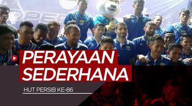Berita video momen skuat Persib Bandung merayakan hari ulang tahun ke-86 dengan sederhana pada Kamis (14/3/2019).