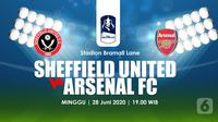 SHEFFIELD UNITED FC VS ARSENAL FC (Liputan6.com/Abdillah)