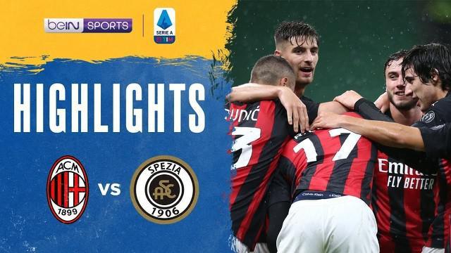 Berita video highlights kemenangan AC Milan 3-0 atas Spezia pada pekan ketiga Liga Italia 2020/2021, di mana Rafael Leao menorehkan dua gol dalam pertandingan tersebut yang digelar Minggu (4/10/2020) malam hari WIB.