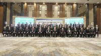 KONI Pusat resmi melantik Pengurus Pusat Persatuan Bulutangkis Seluruh Indonesia (PP PBSI) masa bakti 2020-2024, Jumat (9/4/2021). (dok. PP PBSI)