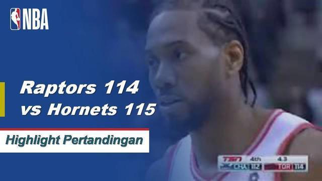 Jeremey Lamb Memukul buzzer beater saat Hornets mendapatkan kemenangan atas Raptors 115-114.