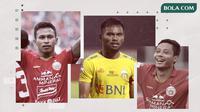 Osvaldo Haay, Saddil Ramdani dan Evan Dimas. (Bola.com/Dody Iryawan)