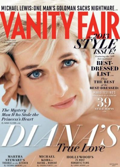 Princess Diana on Vanity Fair's September Issue