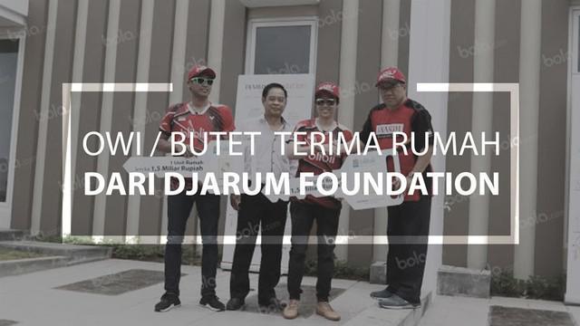 Tontowi / Liliyana Terima Hadiah Rumah dari Djarum Foundation