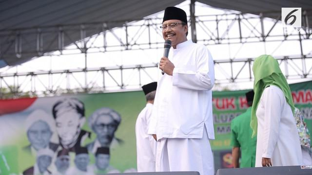 Calon Gubernur Jawa Timur, Saifullah Yusuf hadiri peringatan harlah NU Kabupaten Malang.