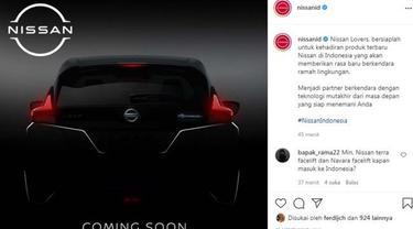 Teaser Nissan Leaf Baru