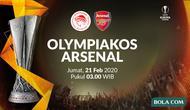 Liga Europa - Olympiakos vs Arsenal. (Bola.com/Dody Iryawan)