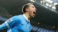 Gelandang Manchester City asal Prancis, Samir Nasri. (AFP/Lindsey Parnaby)
