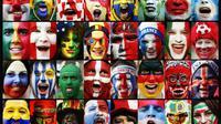 Para suporter negara-negara yang berlaga di Piala Dunia 2018. (dok. Twitter DFB)