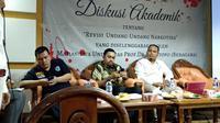 Ahmad Sahroni (tengah). (Liputan6.com/Nafiysul Qodar)