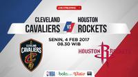 Jadwal NBA, Cleveland Cavaliers Vs Houston Rockets. (Bola.com/Dody Iryawan)