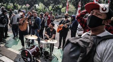 Geruduk Balaikota Jakarta, Musisi Kafe Gelar Aksi Ngamen