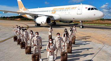 Super Air Jet merupakan maskapai baru asal Indonesia berkonsep milenial