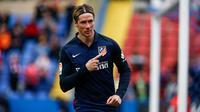 Striker Atletico Madrid asal Spanyol, Fernando Torres. (AFP/Biel Alino)