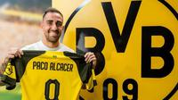 Borussia Dortmund mendatangkan Paco Alcacer dari Barcelona dengan status pemain pinjaman selama semusim pada Selasa (28/8/2018). (dok. bvb.de)