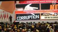 Presiden Joko Widodo (Jokowi) memberikan sambutan saat membuka Konferensi Nasional Pemberantasan Korupsi sekaligus Peringatan Hari Anti Korupsi Sedunia (Hakordia) 2018 di Jakarta, Selasa (4/12). Kegiatan ini diadakan oleh KPK. (Liputan6.com/Angga Yuniar)