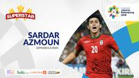 Superstar Asian Games, Sardar Azmoun. (Bola.com/Adreanus Titus)